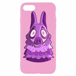 Чохол для iPhone SE 2020 Scared llama from fortnite
