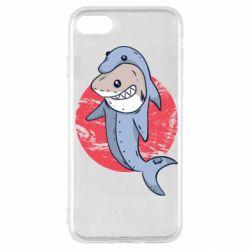 Чехол для iPhone SE 2020 Shark or dolphin