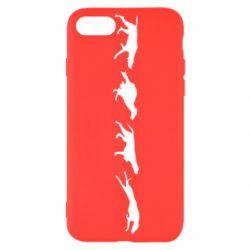 Чехол для iPhone SE 2020 Silhouette of hunting dogs