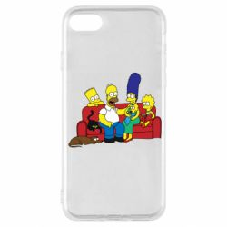 Чехол для iPhone SE 2020 Simpsons At Home
