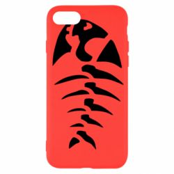 Чехол для iPhone SE 2020 скелет рыбки