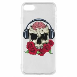 Чохол для iPhone SE 2020 Skull and roses