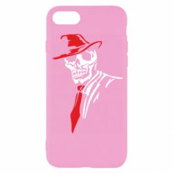 Чехол для iPhone SE 2020 Skull in a hat with a tie