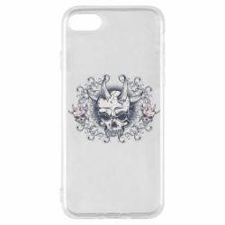 Чохол для iPhone SE 2020 Skull with horns and patterns