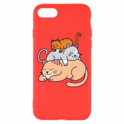 Чехол для iPhone SE 2020 Sleeping cats