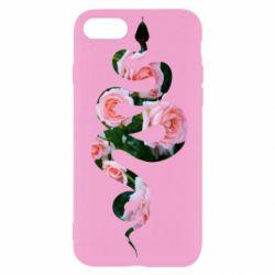 Чохол для iPhone SE 2020 Snake and roses