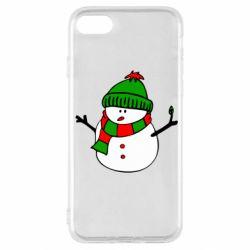 Чехол для iPhone SE 2020 Снеговик