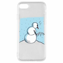 Чехол для iPhone SE 2020 Snowman Peeing