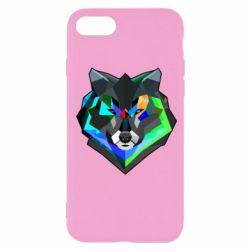 Чехол для iPhone SE 2020 Сolorful wolf