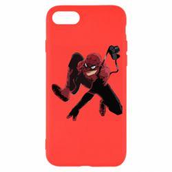 Чехол для iPhone SE 2020 Spiderman flat vector