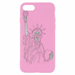 Чохол для iPhone SE 2020 Statue of Liberty with a medical mask