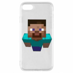 Чехол для iPhone SE 2020 Steve from Minecraft