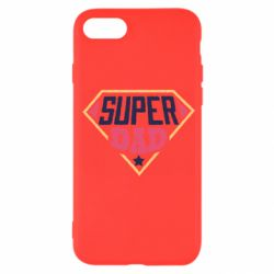 Чехол для iPhone SE 2020 Super dad text