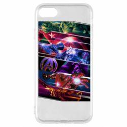 Чехол для iPhone SE 2020 Super power avengers