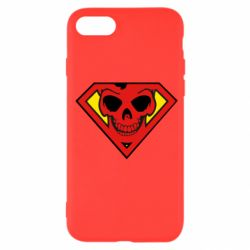 Чехол для iPhone SE 2020 Superman Skull