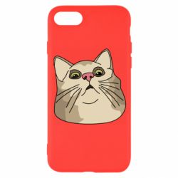 Чехол для iPhone SE 2020 Surprised cat