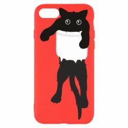 Чехол для iPhone SE 2020 The cat tore the pocket