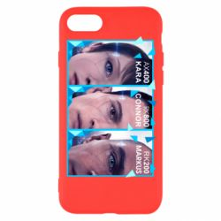 Чохол для iPhone SE 2020 The faces of androids game Detroit: Become human