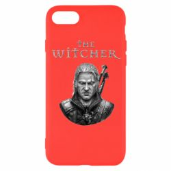 Чехол для iPhone SE 2020 The witcher art black and gray