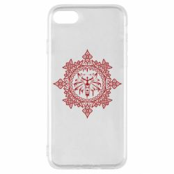 Чохол для iPhone SE 2020 The Witcher Wolf and Pattern