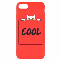 Чехол для iPhone SE 2020 Top cat and the inscription cool