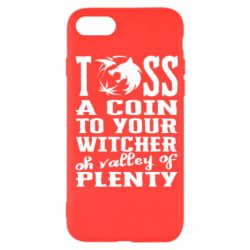 Чехол для iPhone SE 2020 Toss a coin  to your  witcher  oh valley of  plenty