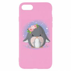 Чехол для iPhone SE 2020 Two cute penguins