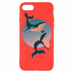 Чехол для iPhone SE 2020 Two whales