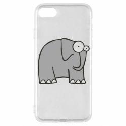 Чехол для iPhone SE 2020 удивленный слон