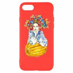 Чохол для iPhone SE 2020 Українка в вінку і вишиванці