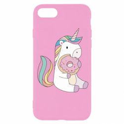 Чехол для iPhone SE 2020 Unicorn and cake