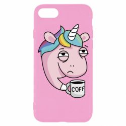Чохол для iPhone SE 2020 Unicorn and coffee
