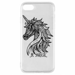 Чехол для iPhone SE 2020 Unicorn and text