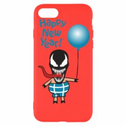 Чохол для iPhone SE 2020 Venom pig with a ball wishes a happy new year