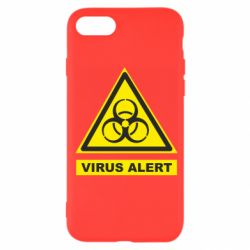 Чехол для iPhone SE 2020 Warning Virus alers