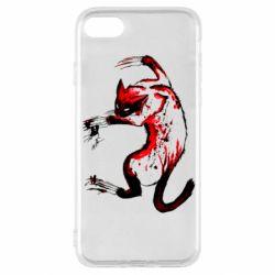 Чехол для iPhone SE 2020 Watercolor Aggressive Cat