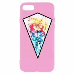 Чехол для iPhone SE 2020 Watercolor flower in a geometric frame