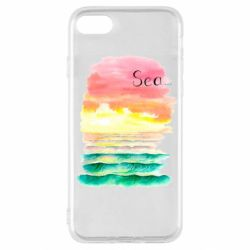 Чехол для iPhone SE 2020 Watercolor pattern with sea