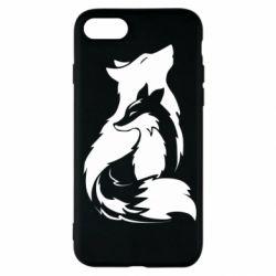 Чехол для iPhone SE 2020 Wolf And Fox