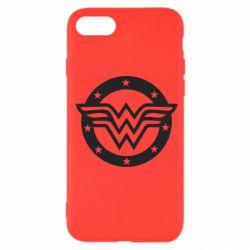 Чехол для iPhone SE 2020 Wonder woman logo and stars
