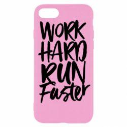 Чохол для iPhone SE 2020 Work hard run faster