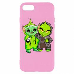 Чехол для iPhone SE 2020 Yoda and Grinch
