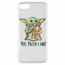 Чехол для iPhone SE 2020 Yoda and pizza
