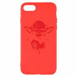 Чехол для iPhone SE 2020 Yoda в наушниках