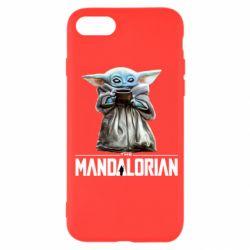 Чехол для iPhone SE 2020 Yoda with a cup