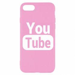 Чохол для iPhone SE 2020 Youtube vertical logo