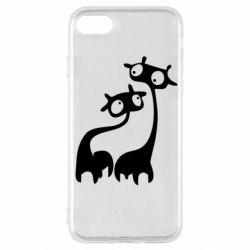 Чехол для iPhone SE 2020 Жирафы