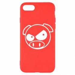 Чехол для iPhone SE 2020 Злая свинка