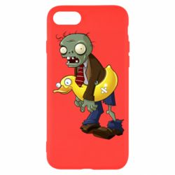 Чехол для iPhone SE 2020 Zombie with a duck
