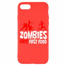 Чохол для iPhone SE 2020 Zombies hate fast food
